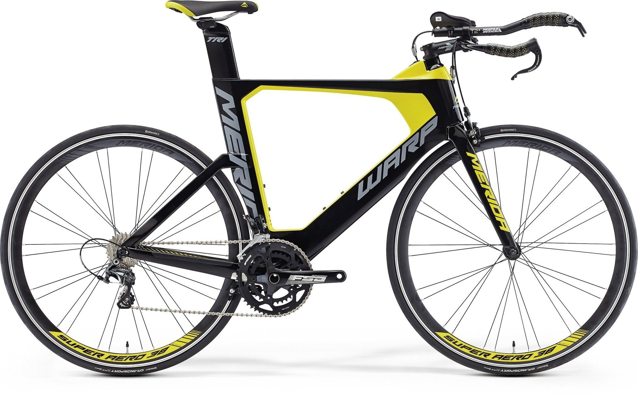 Merida WARP TRI 3000 Black/Yellow(Grey) L(57)