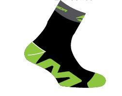 Ponožky  MERIDA  141  černo/zelené  S