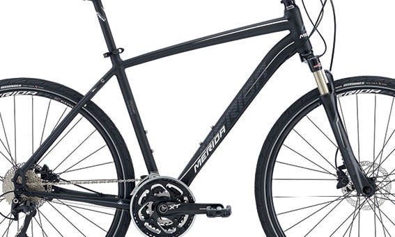 Rám CROSSWAY XT-EDITION Matt Black(Grey/White) 46cmL