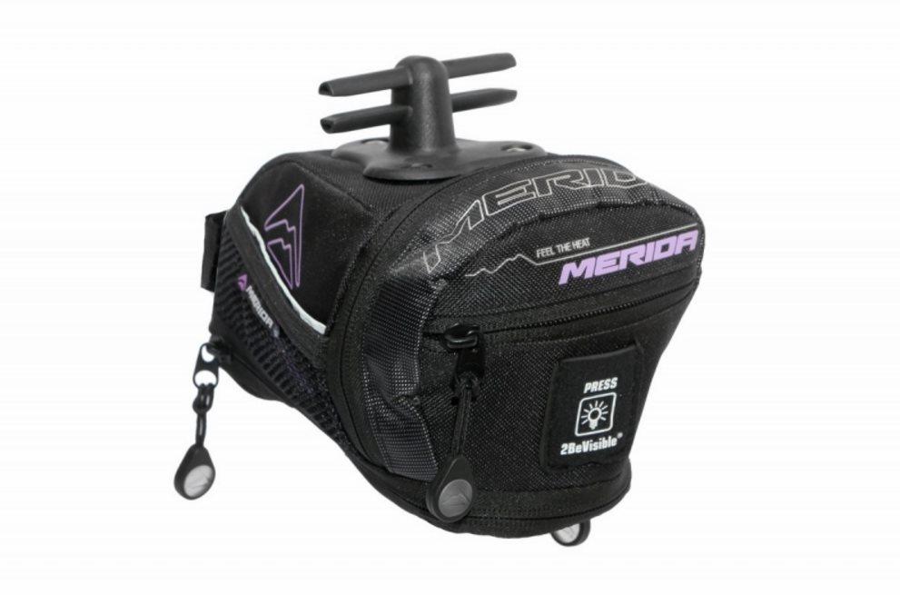 Brašna pod sedlo E-BAG (BG-MD063) črn/fialová