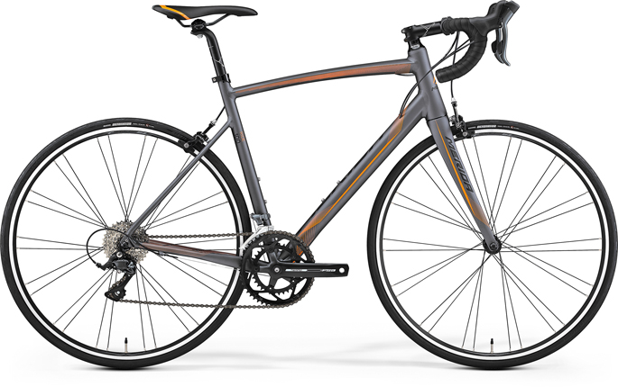 Merida RIDE 100 Matt Anthracite(Orange/Black) XL(59)
