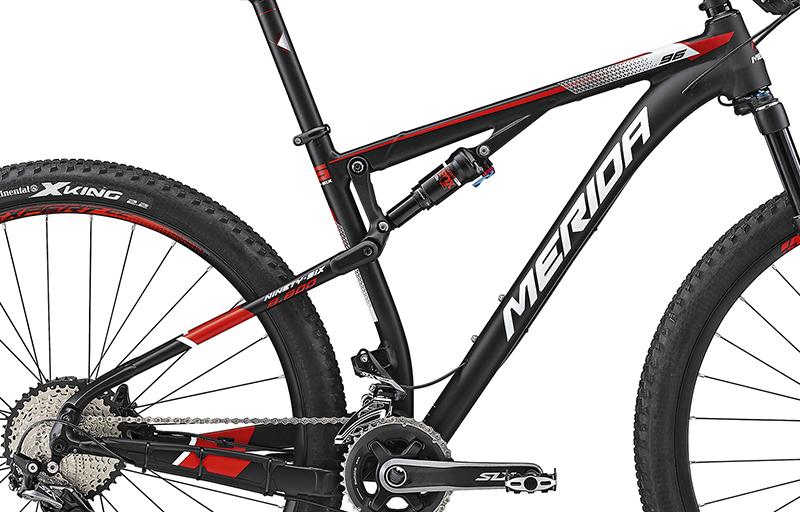 Rám NINETY-SIX 9.800 Matt Black(Red/White) XL