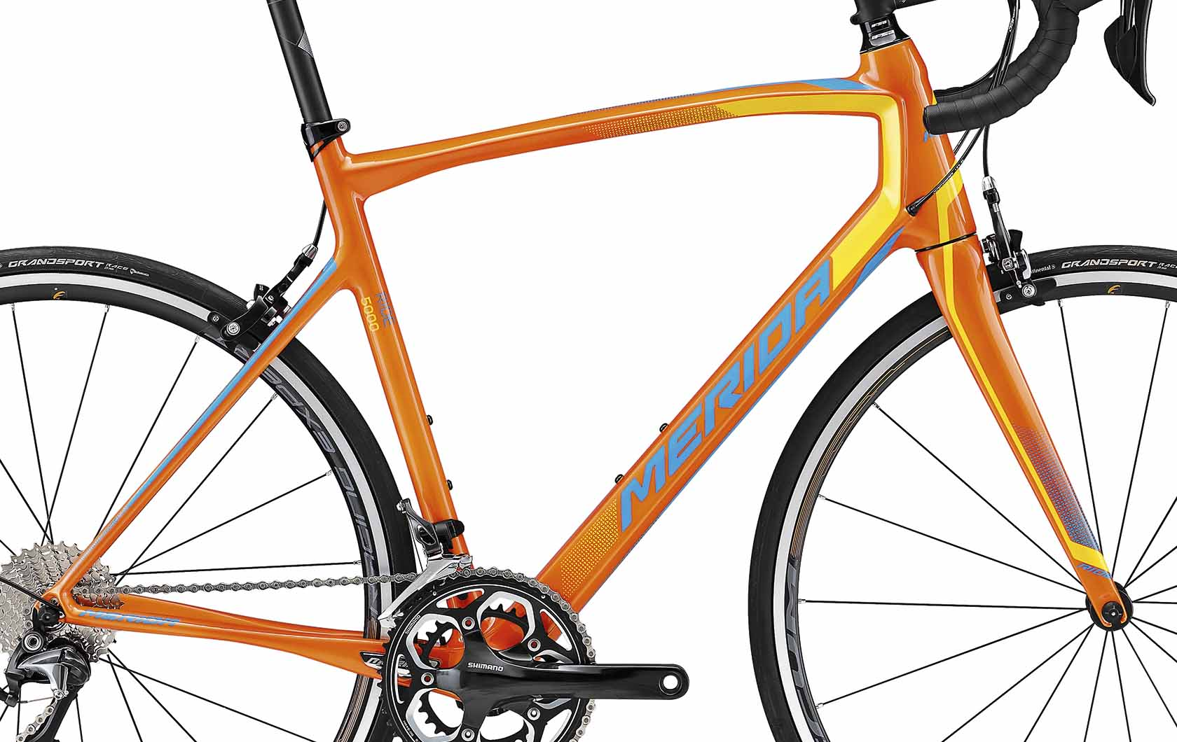 Rám RIDE 5000 Mango (yellow/blue) M-L