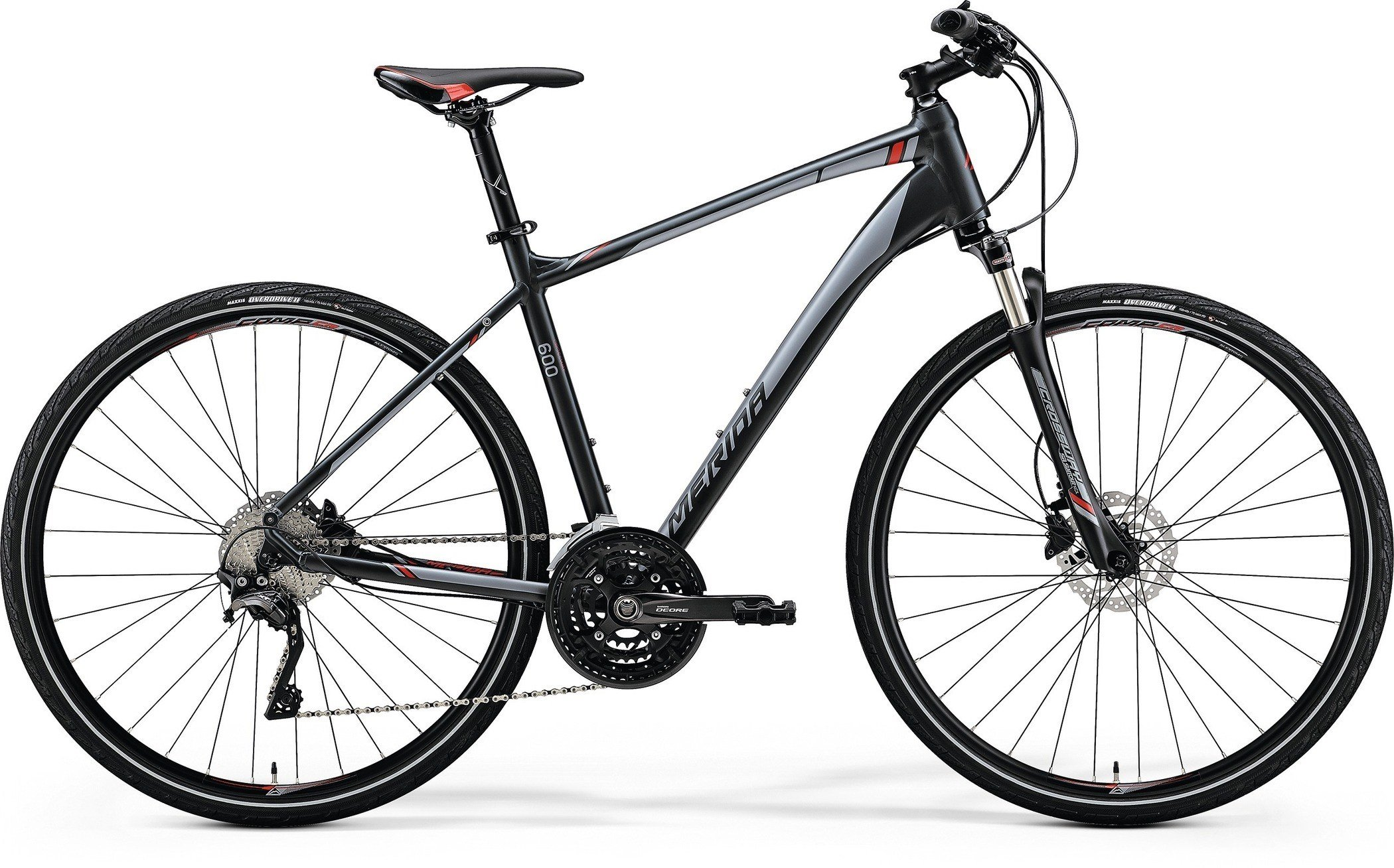Merida CROSSWAY 600 Matt Dark Grey(Red/Silver Gry) S(47)