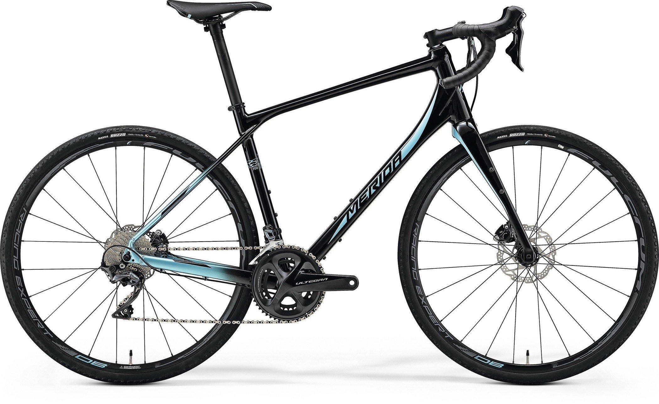 Merida SILEX 700 Matt Met. Black(Lite Blue) L(53)