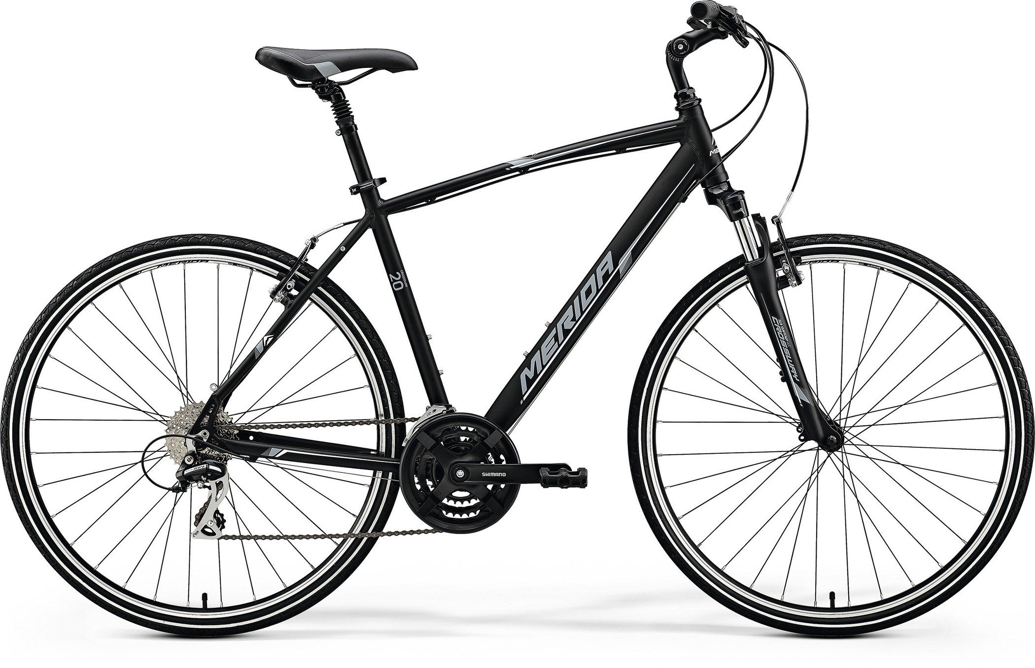 Merida CROSSWAY 20-V Matt Black(White/Grey) XL(58)