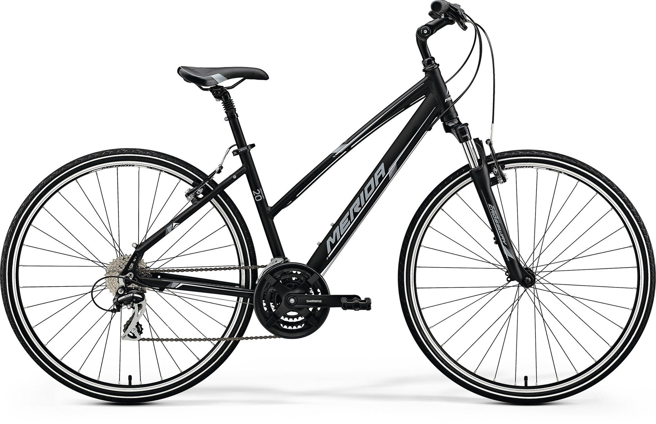 Merida CROSSWAY 20-V Matt Black(White/Grey) XXL(61)