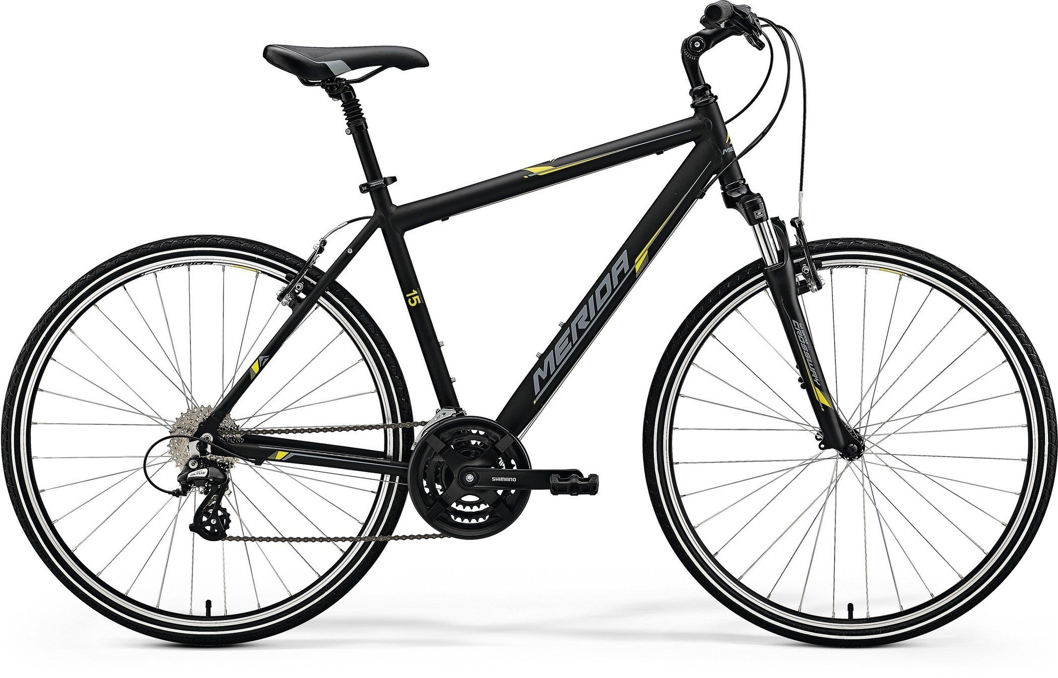 Merida CROSSWAY 15-V Matt Black(Yellow/Grey) L(55)
