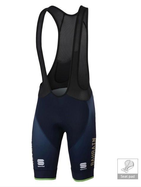 Bahrain Merida - 18 Kalhoty krátké BodyFit Pro modré XL