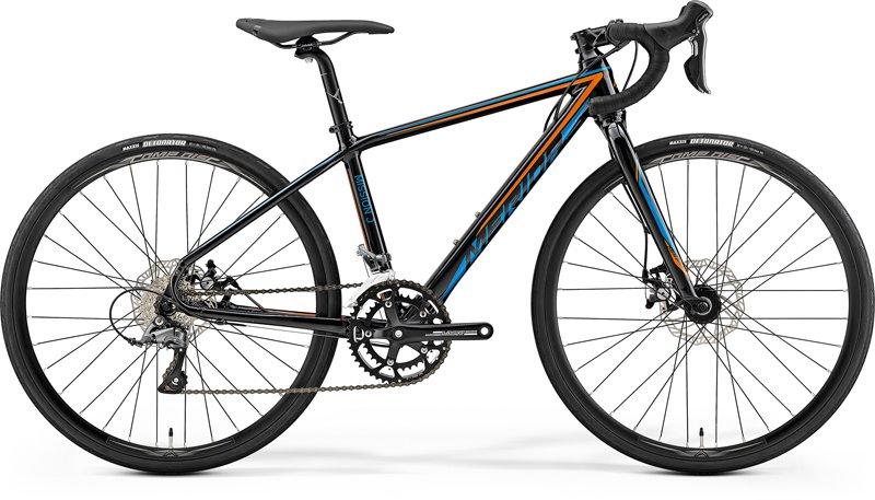 MISSION J.ROAD Metallic Black(Orange/Blue) 4S(39)