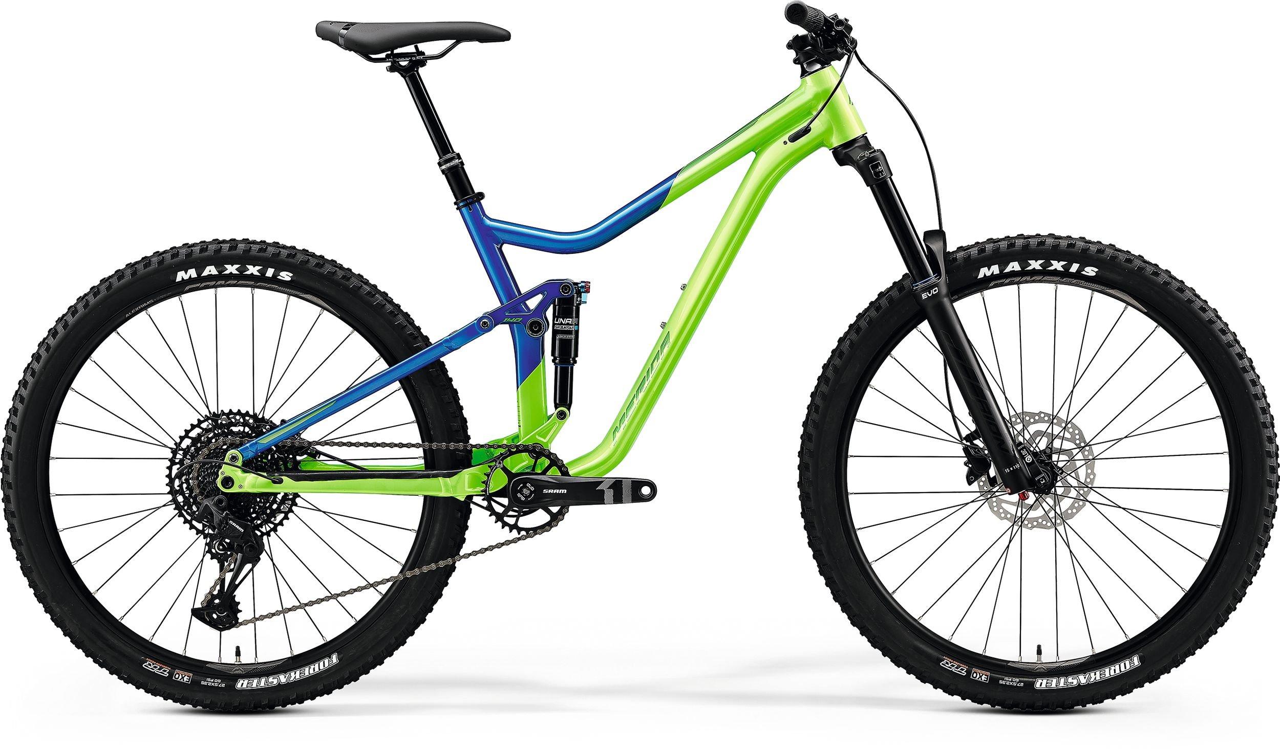 Merida ONE-FORTY 400 zelené/modré (165-180 cm)