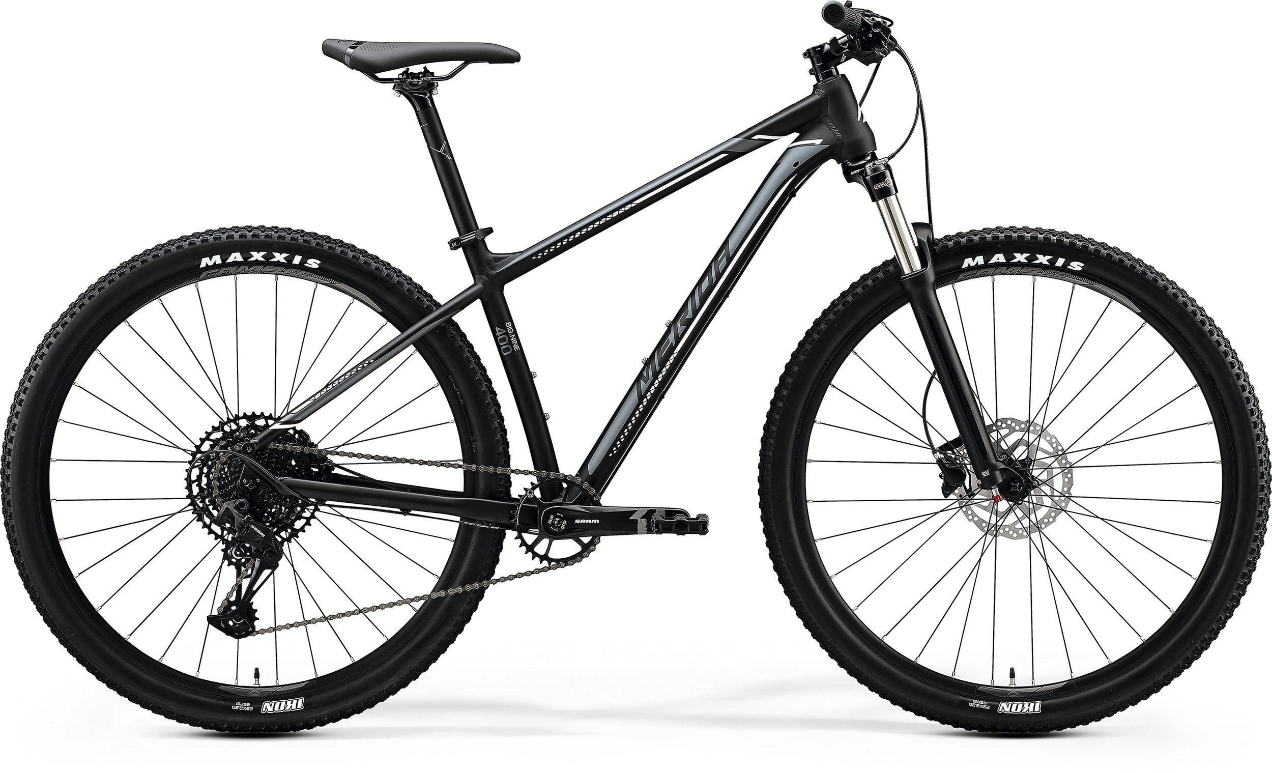 Merida BIG.NINE 400 černé/stříbrné (195-205 cm)