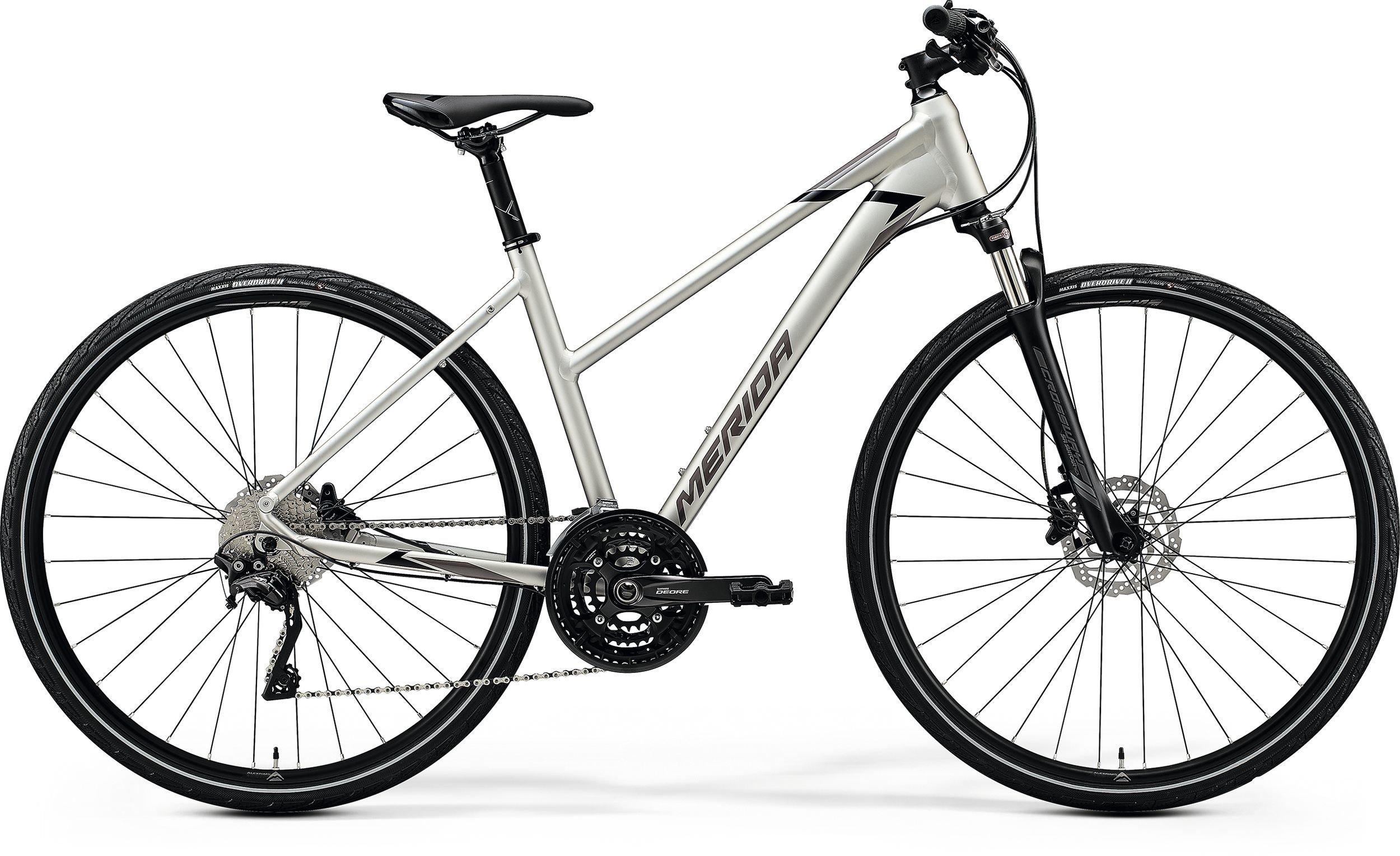 Merida CROSSWAY 600-LADY stříbrné/černé (165-175 cm)