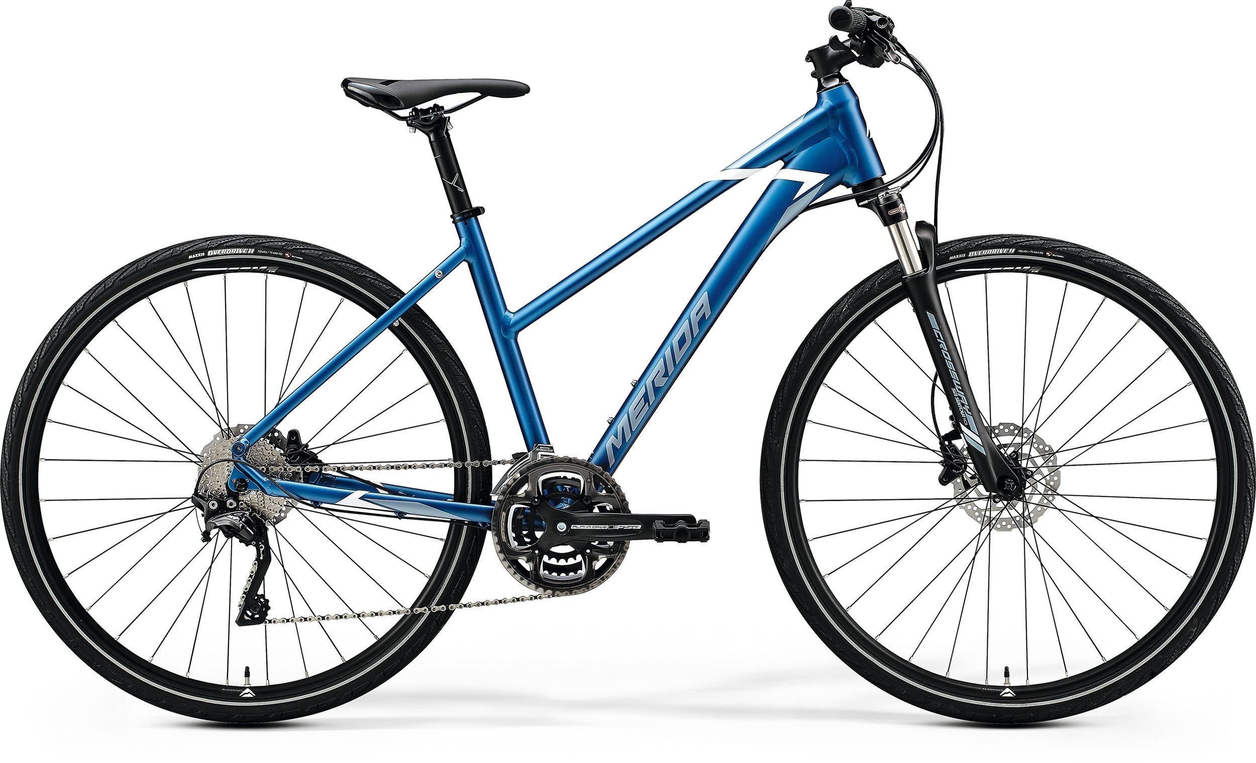 Merida CROSSWAY 500-LADY modré/stříbrné (175-185 cm)
