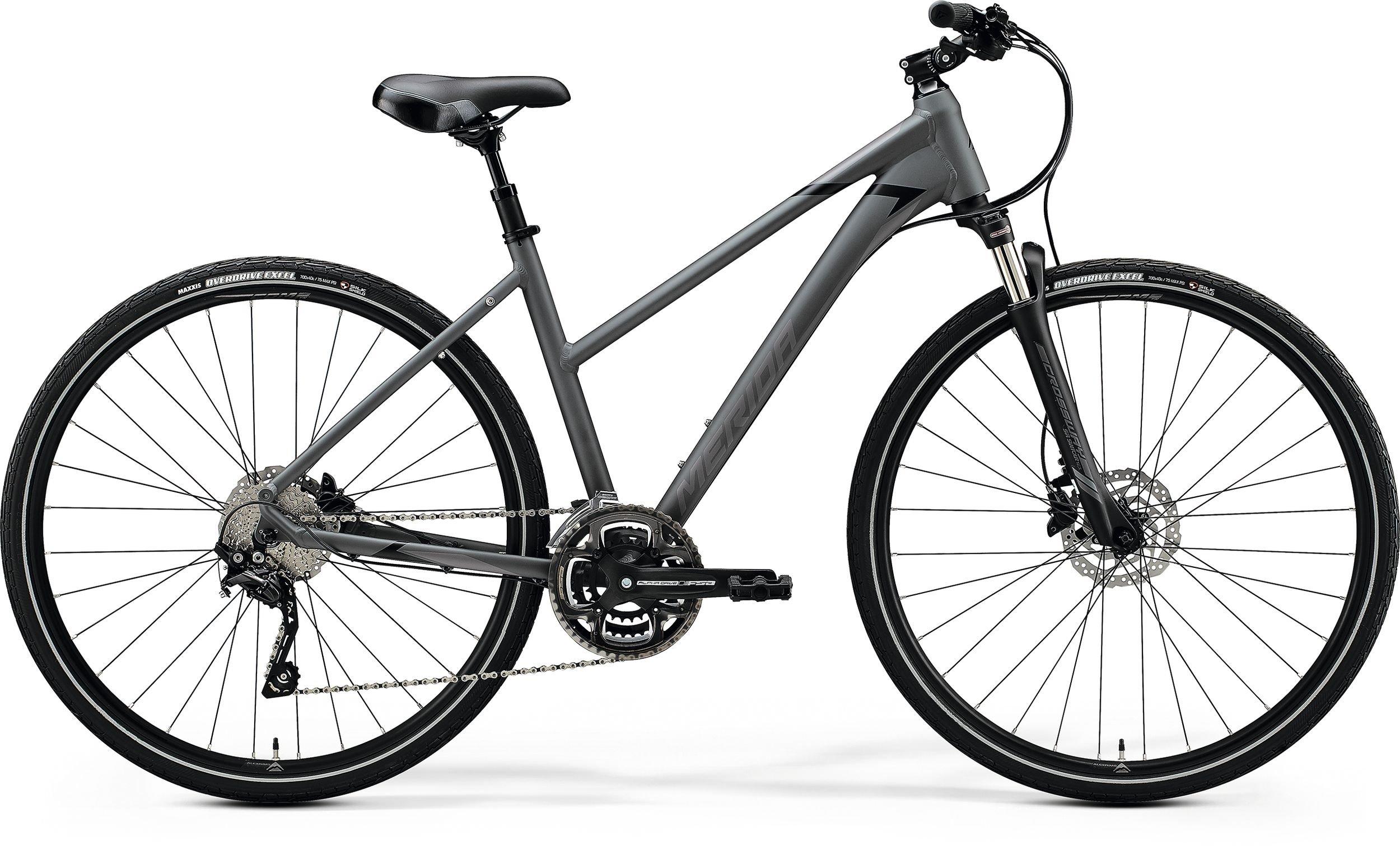Merida CROSSWAY 300-LADY šedé/černé (160-165 cm)