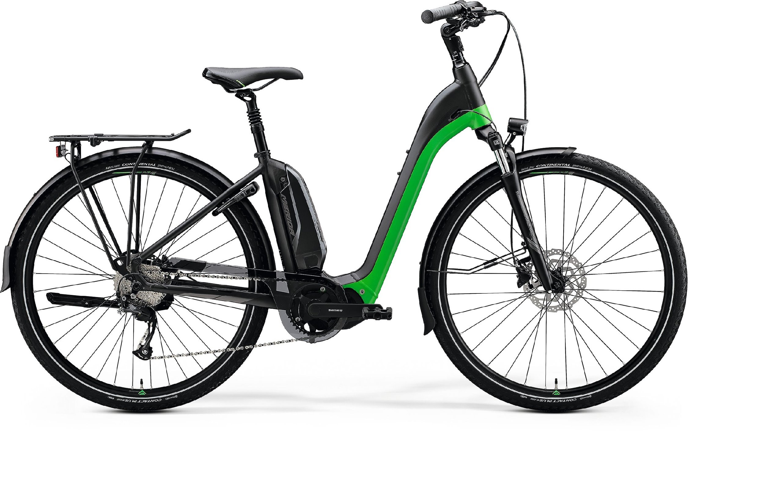 Merida eSPRESSO CITY 200 EQ černé/zelené (165-180 cm)