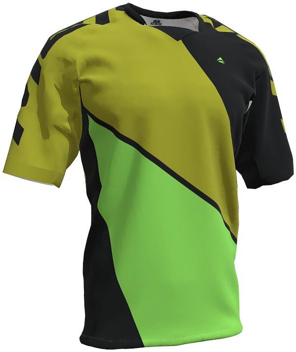 Dres pánský GSG FREERIDE černo-zelený XL