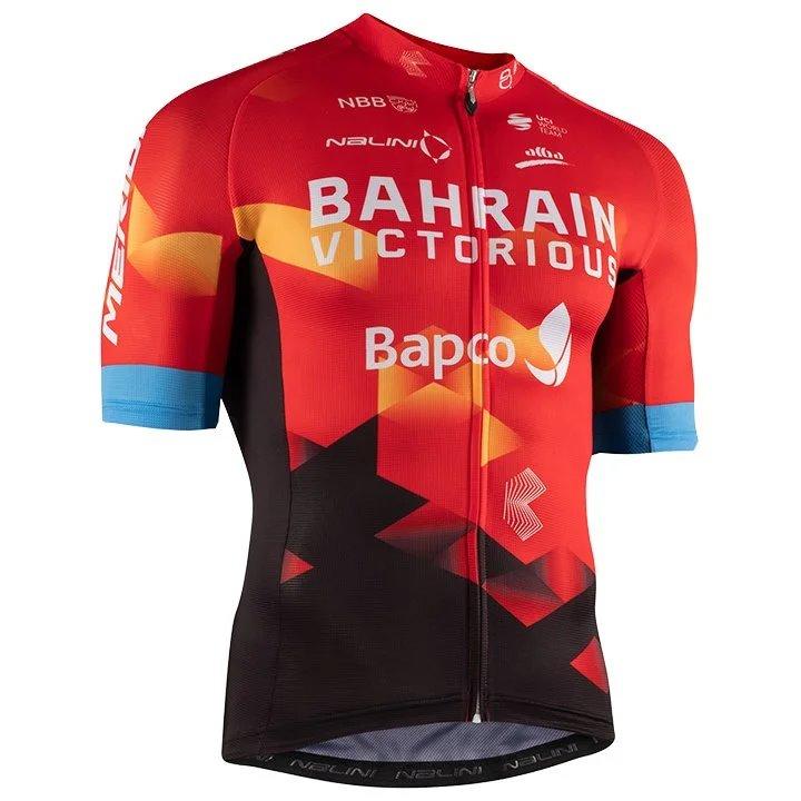 MERIDA - Bahrain Victorious - Dres krátký TEAM červený  7/ 3XL