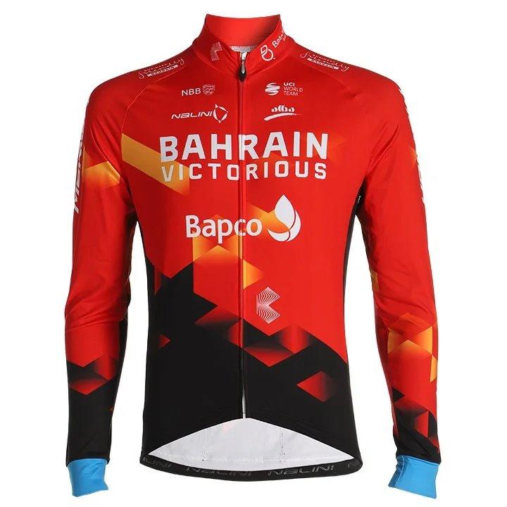 MERIDA - Bahrain Victorious - Dres dlouhý TEAM červený  5 / XL