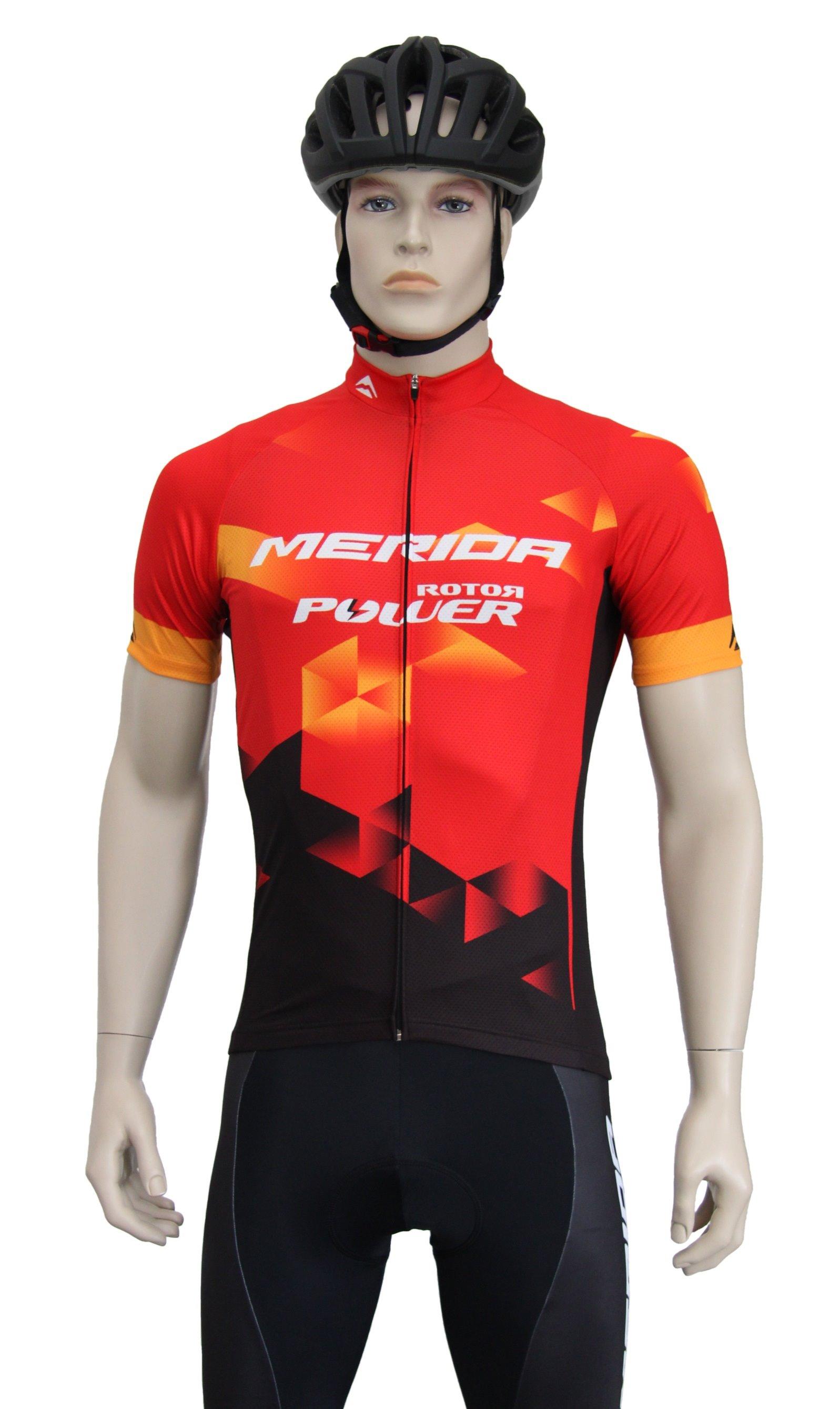 MERIDA - Dres pánský SPORT červeno-oranžovo-černý 3XL