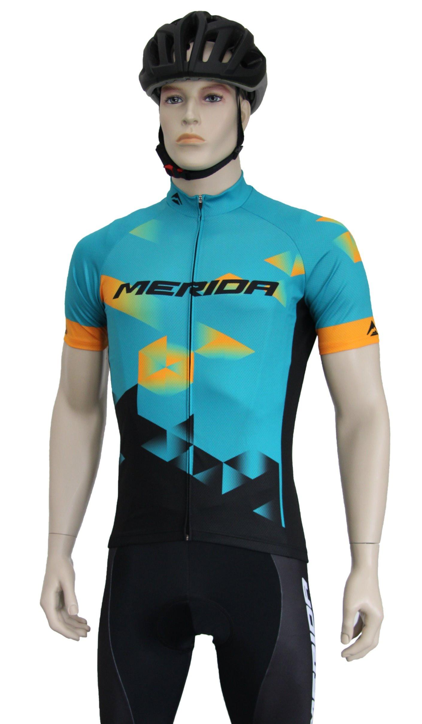 MERIDA - Dres pánský SPORT teal-oranžovo-černý S